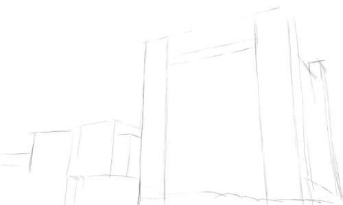 Castle Drawing Step by Step 3