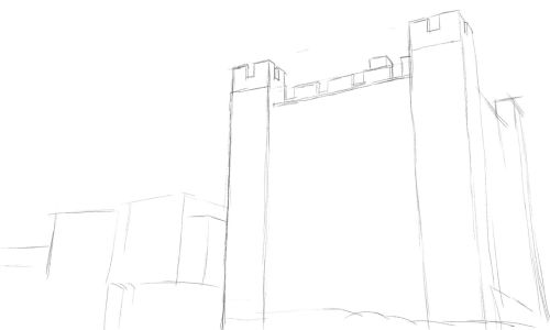 Castle Drawing Step by Step 4