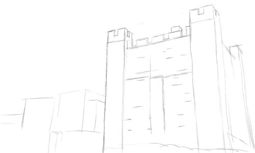 Castle Drawing Step by Step 5