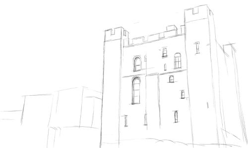 castle drawing draw a castle in an easy step by step drawing lesson