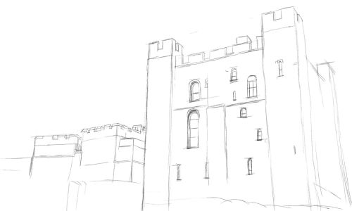 Castle Drawing Step by Step 7