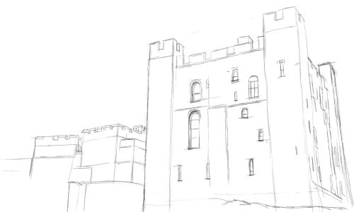 Castle Drawing Step by Step 8