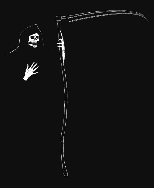 Grim Reaper Drawings A Gothic Ink Drawing Step By Step