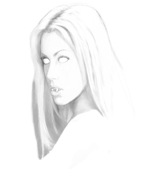 How To Draw Vampire Girl Face