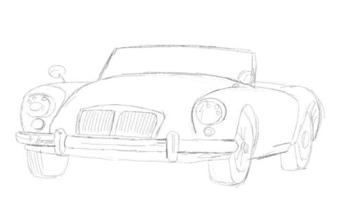 car cartoon drawing