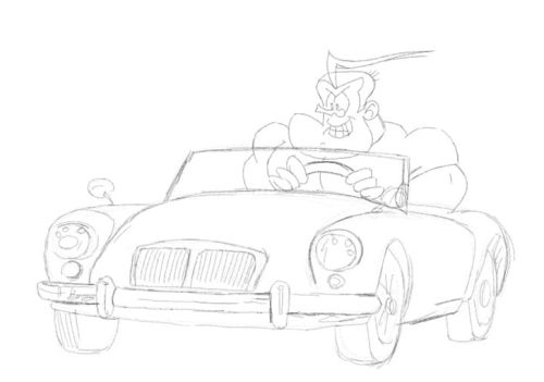 cartoon sports car drawing