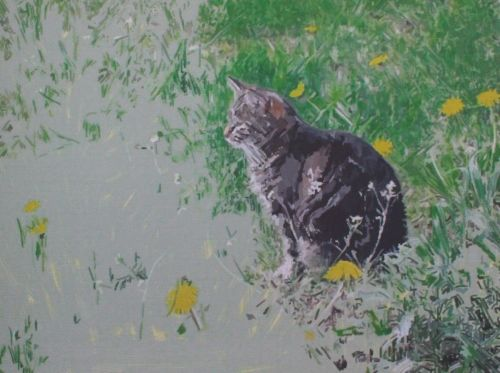 Cat Painting in Acrylics 9