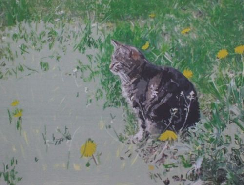 Cat Painting in Acrylics 10