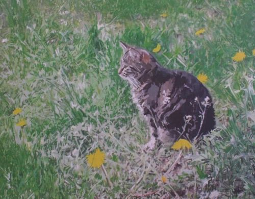 Cat Painting in Acrylics 11