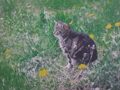 Cat Painting in Acrylics 13