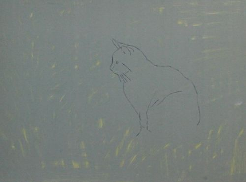 Cat Painting in Acrylics 3