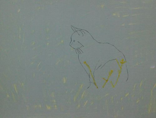 Cat Painting in Acrylics 4