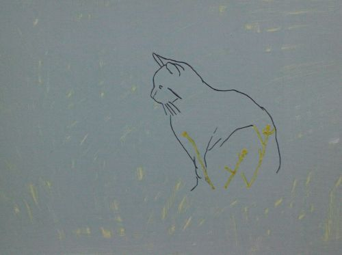 Cat Painting in Acrylics 5