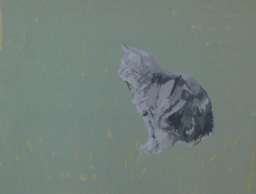 Cat Painting in Acrylics 6