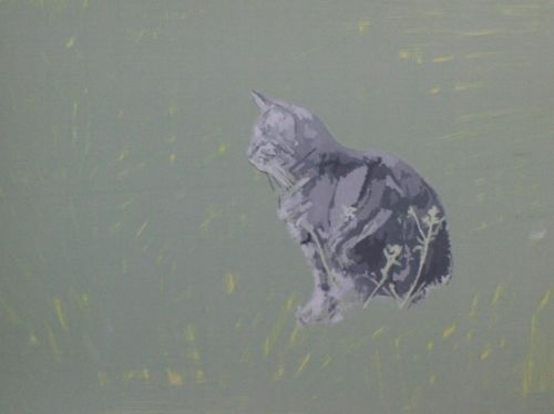 Cat Painting in Acrylics 7