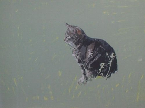 Cat Painting in Acrylics 8