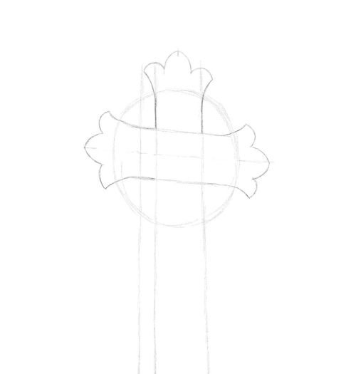 cross drawing