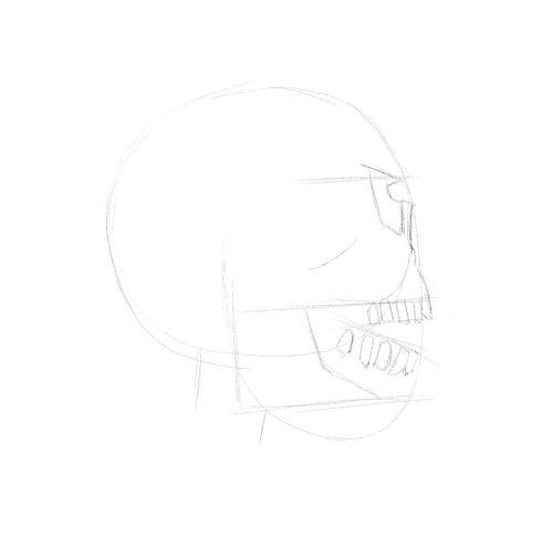evil skull drawings 11
