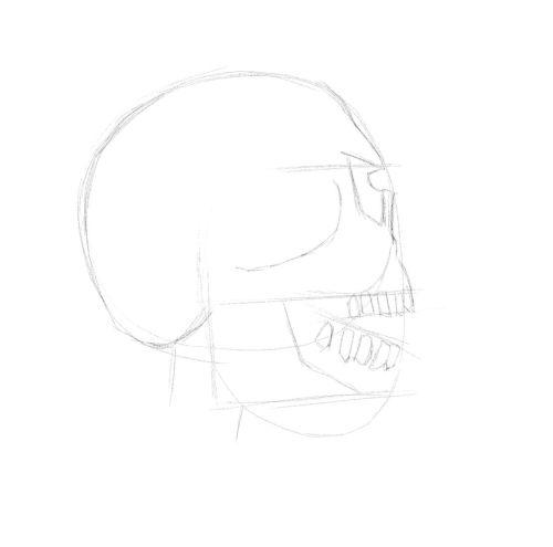 evil skull drawings 12