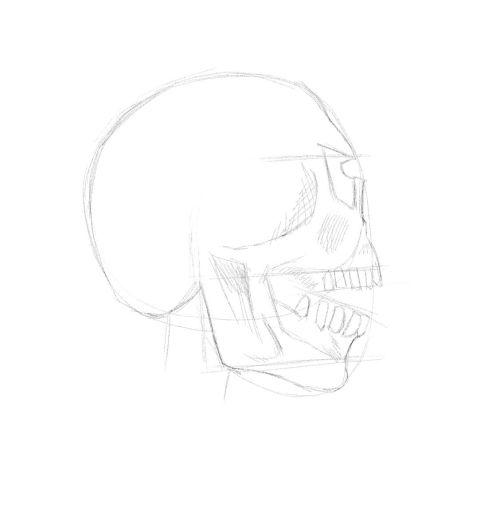 evil skull drawings 13