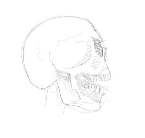 evil skull drawings 14