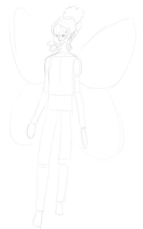 Fairy Drawings in Pencil 11