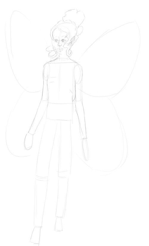 Fairy Drawings in Pencil 12