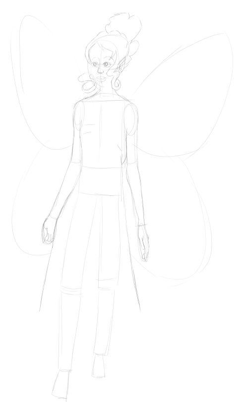 Fairy Drawings in Pencil 13