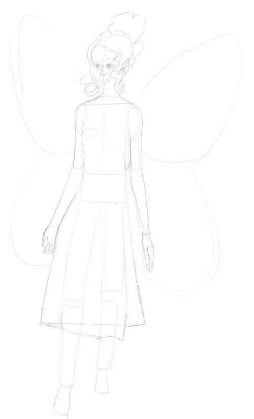Fairy Drawings in Pencil 14