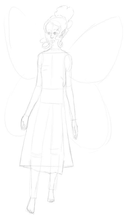 Fairy Drawings in Pencil 15
