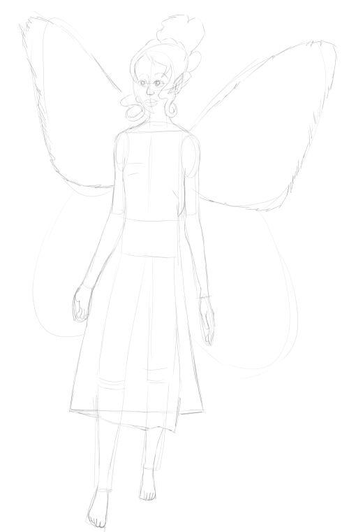 Fairy Drawings in Pencil 16