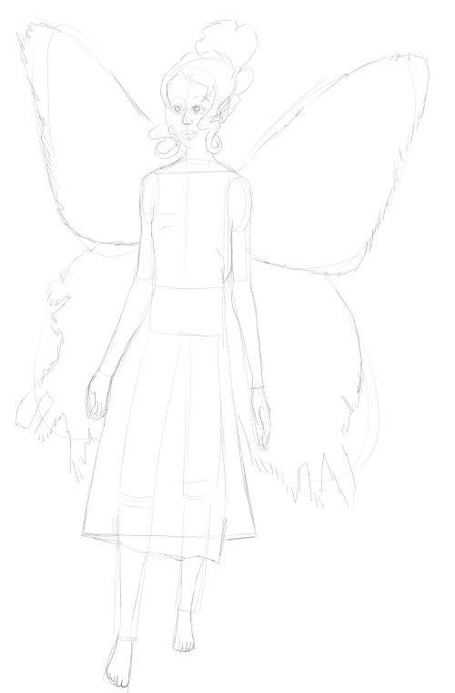 Fairy Drawings in Pencil 17