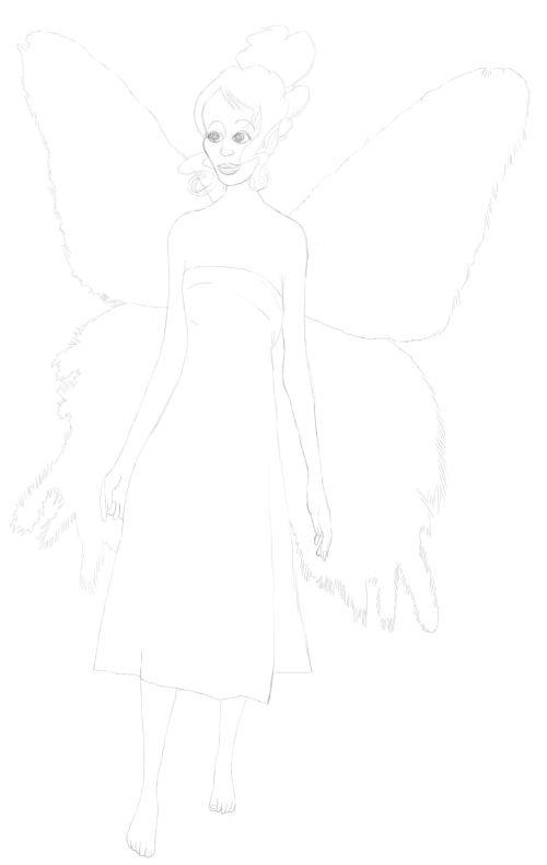 Fairy Drawings in Pencil 18
