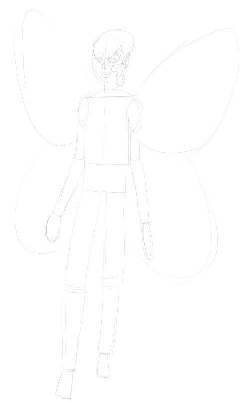 Fairy Drawings in Pencil 7