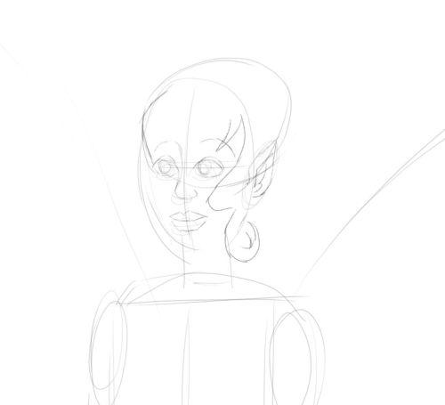 Fairy Drawings in Pencil 8