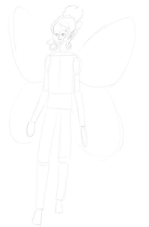 Fairy Drawings in Pencil 9