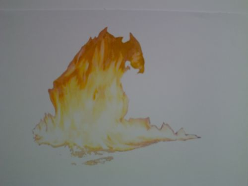 Flame Drawing 4