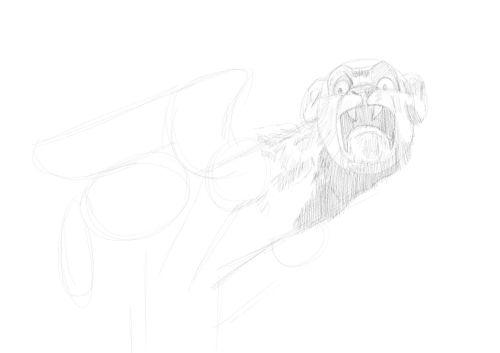 Pencil Drawing of a gargoyle 6