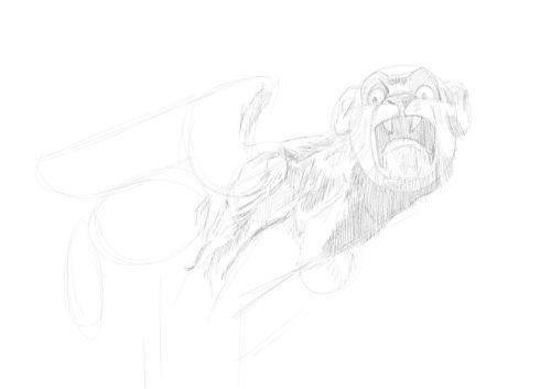 Pencil Drawing of a gargoyle 7