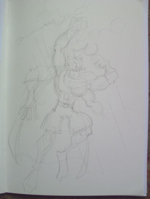 superhero sketch