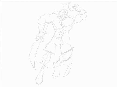 cartoon character sketch