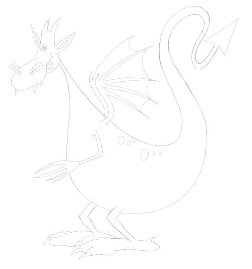 simple dragon drawing