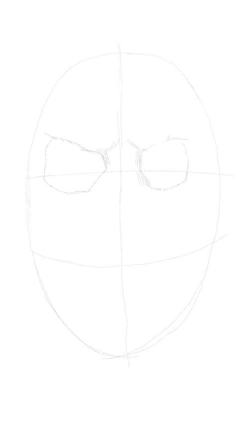 evil skull drawings 2