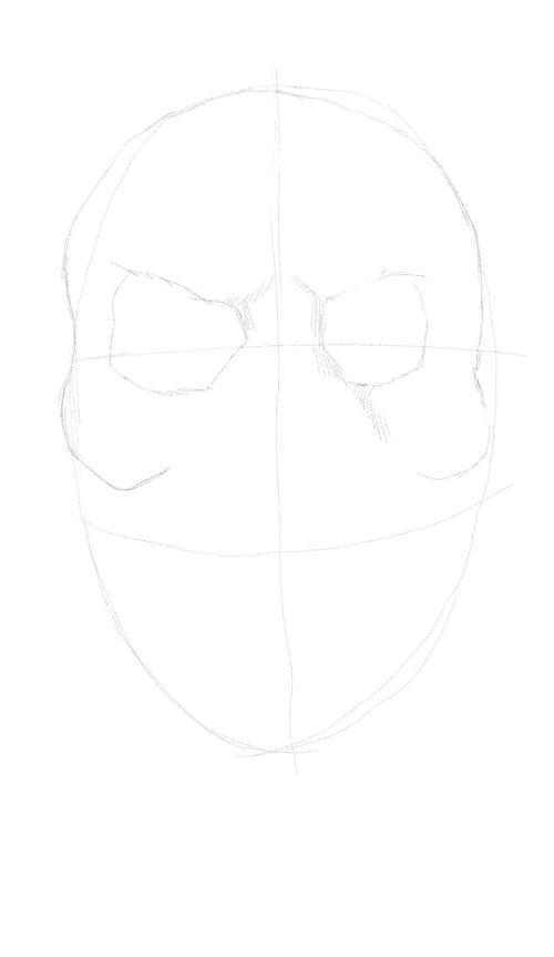 evil skull drawings 3