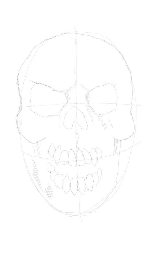 evil skull drawings 4