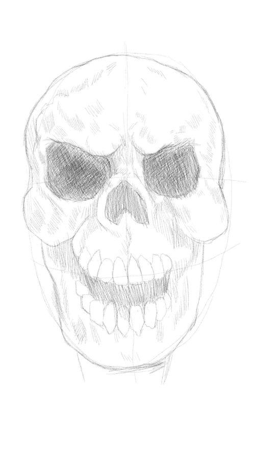 evil skull drawings 6