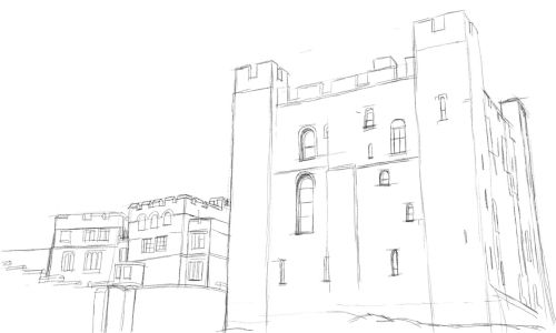 Castle Drawing Step by Step 9