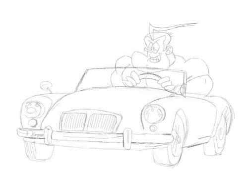 cartoon sports car drawing