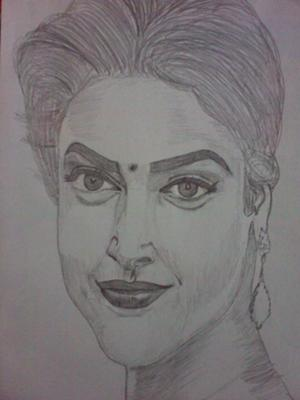 deepika padukone's sketch