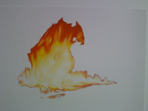 Flame Drawing 5